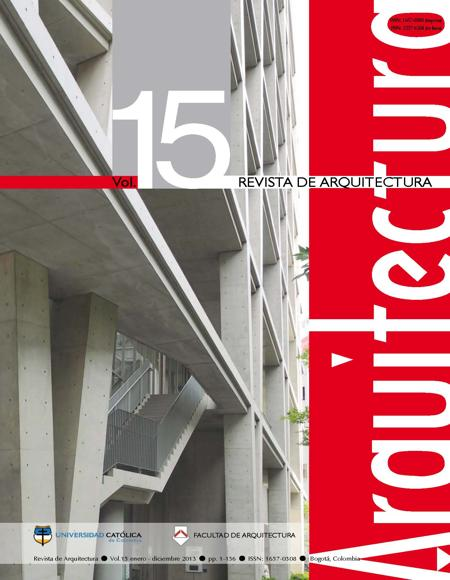 Vol 15 n m 1 2013 for Portadas de revistas de arquitectura